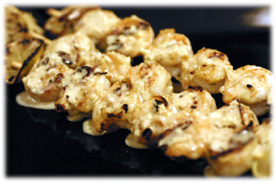 curry shrimp kebabs