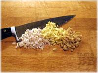 chopped lemongrass garlic ginger