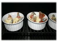 garlic shrimp scampi on grill