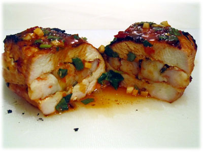 grilled shrimp stuffed chicken breasts