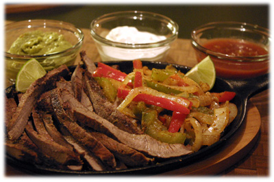 sizzling steak fajita recipe