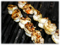 grilling shrimp for steak oscar