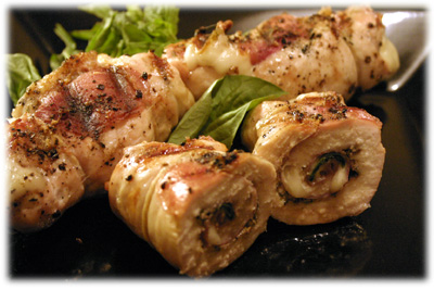 stuffed chicken rollups recipe