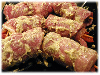 marinating stuffed flank steak