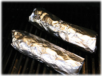 grilling pork tenderloins wrapped in foil