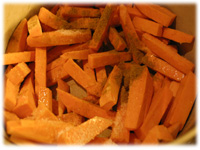 oiled sweet potato fries