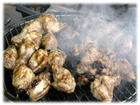 how to grill teriyaki chicken wings