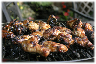 barbecued teriyaki chicken wings