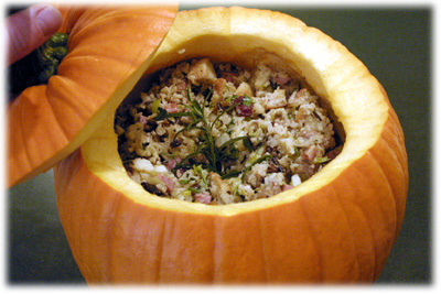 best stuffing recipe in a pumpkin