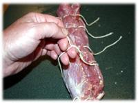 how to tie stuffed tenderloin