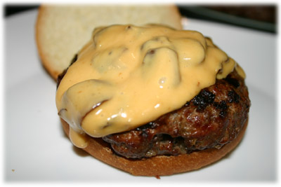 best burger with melted cheese and mushroom sauce