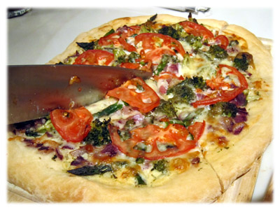 grilled veggie pizza pie