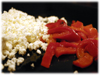 roasted pepper and feta