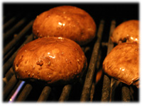 grilling portabella mushrooms
