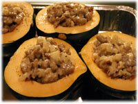 sausage stuffed acorn squash recipes