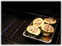 how to BBQ acorn squash