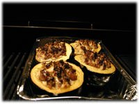 how to grill a stuffed squash