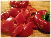 chopped red pepper