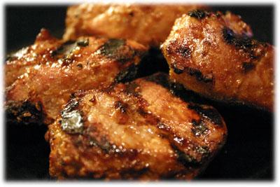Amazing Sesame Ginger grilled pork tenderloin medallions from tasteofBBQ.com