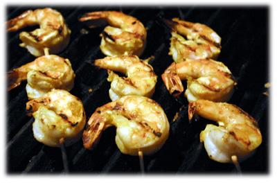 bbq curry shrimp