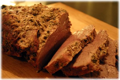 dijon peppercorn roasted beef tenderloin recipe