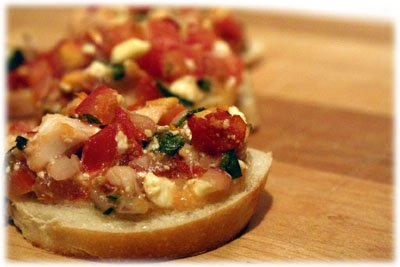 Very tasty grilled chicken bruschetta from tasteofBBQ.com
