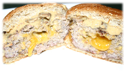 cheese stuffed cheeseburgers