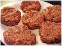 making chicken burger patties