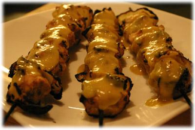 curry mango chicken kabobs recipe