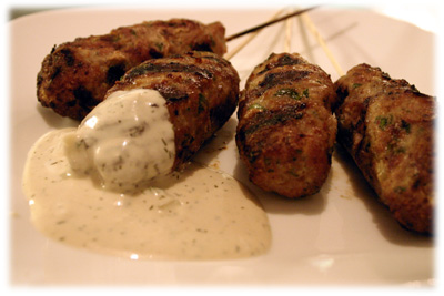 chicken kofta kebabs