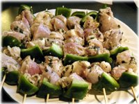 green peppers and greek chicken thighs