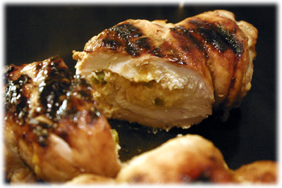 bbq chicken stuffed with crab