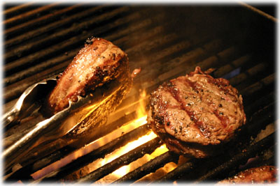 flame grilled filet mignon steaks