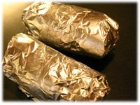 bbq baked potato wrapped in foil