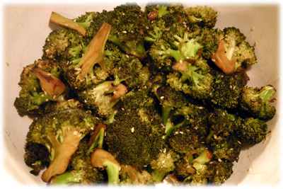 chinese stir fry grilled broccoli
