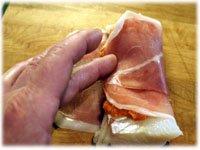 wrapping fish in prosciutto