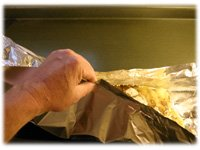 how to make foil pouch for potatoes