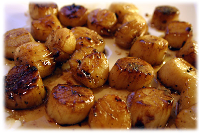 Pan Seared Scallops on the grill from tasteofbbq.com