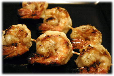 lemon garlic grilled shrimp kabobs