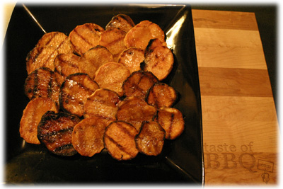 best grilled sweet potato medallions ever