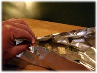 wrapping fish in foil for the grill