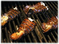 lobster tails on the grill