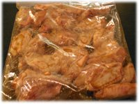 wings in honey garlic marinade