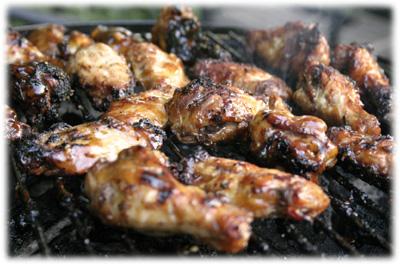 best grilled garlic wings