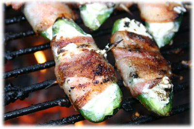 make grilled jalapeno poppers