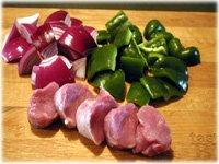 pork tenderloin red onion green pepper
