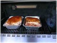 cooking pulled pork on gas grill