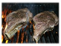 grilling rib steaks position 2