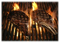flaming steaks position 3