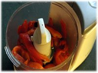 roasted peppers in blender
